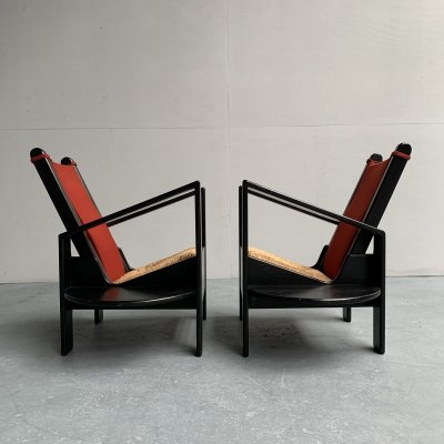 Pair of Sedes 4000 Arm Chairs by Wim Mulder, Netherlands 1985