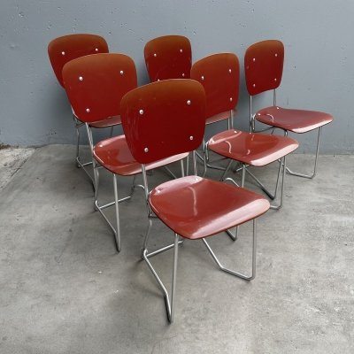 6 x AluFlex dining chair by Armin Wirth for Ph. Zieringer KG, 1960s