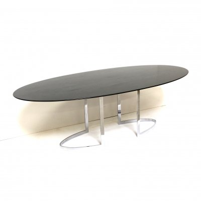 Italian vintage oval dining table produced by Cidue, 1970s