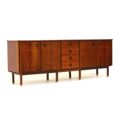 Large exclusive vintage rosewood sideboard from Topform, 1960s