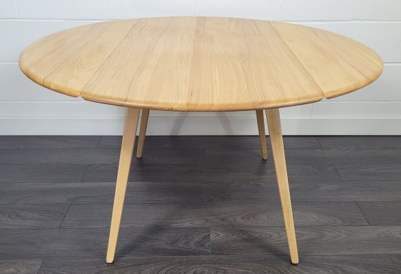 Ercol Round Drop Leaf Dining Table, 1960s