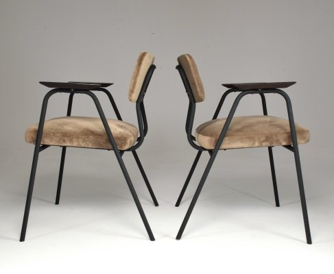 1960's French Pair of Armchairs by Pierre Guariche