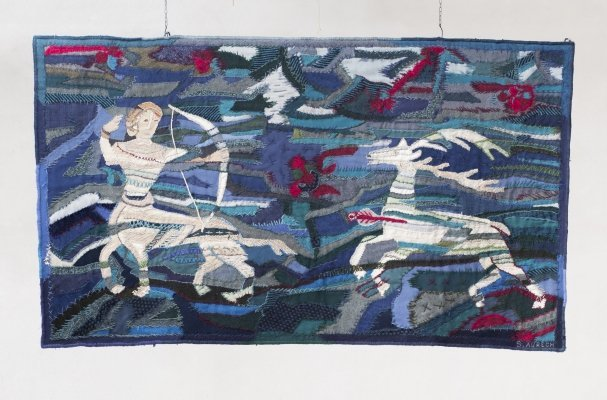 Wall tapestry by S. Aurech, France 1968