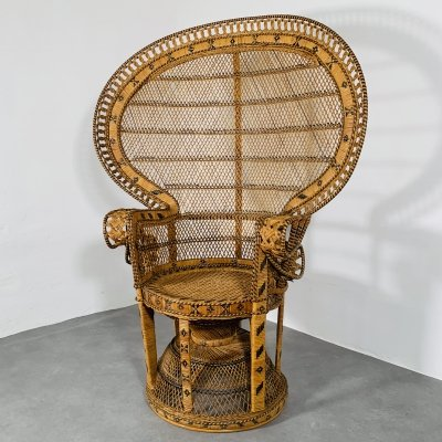 Vintage 'Manilla' or 'Peacock' Chair made in 'Bilidid Prison' Phillippines
