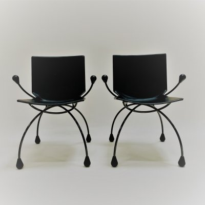 Rare set of two armchairs by Karel Boonzaaijer & Pierre Mazairac for Young International, 1980s