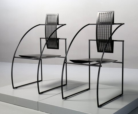 2 x Quinta dining chair by Mario Botta for Alias, 1980s