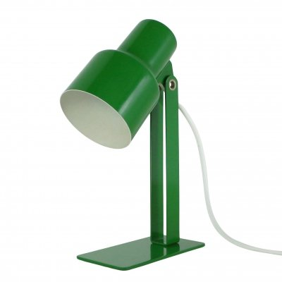 High quality green metal desk light, Italy 1960s