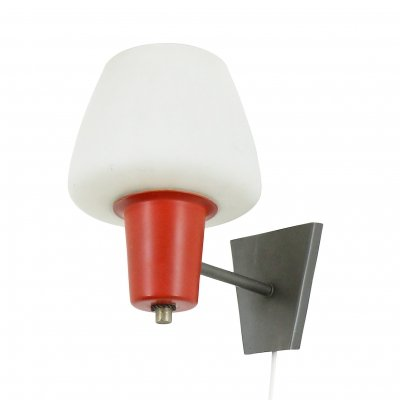 Early Anvia wall light in grey, red & white