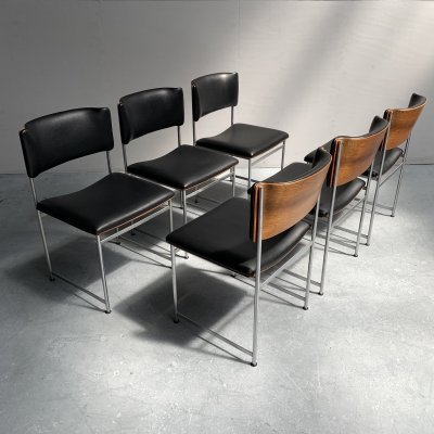 Set of 6 'SM08' dining chairs by Cees Braakman for Pastoe, Netherlands 1950s