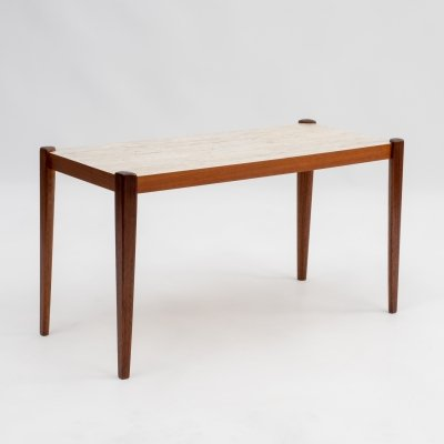 1960s side table in teak with formica top