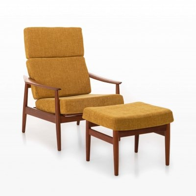 High back lounge chair by Arne Vodder, 1960s