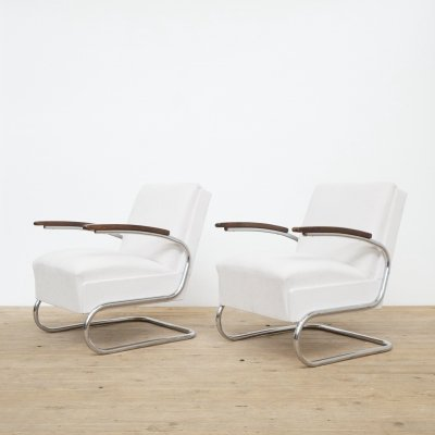 Set of two Mucke Melder FN 24 easy chairs, 1960s