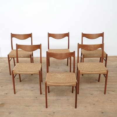 6 Danish dining chairs by Arne Wahl Iversen