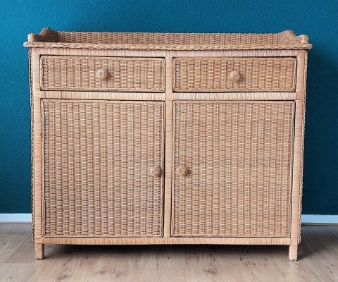 Rattan Chest or Commode, 1970's
