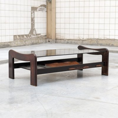 Rosewood Coffee table by Percival Lafer, Brazil 1970s