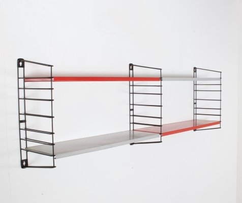 Tomado Two Bay Wall Hanging Unit in Red & Grey, Netherlands c1960s