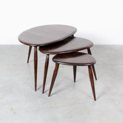Pebble nesting table by Lucian Randolph Ercolani for Ercol, 1960s