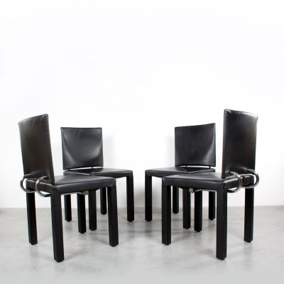 Set of 4 Arcadia dining chairs by Paolo Piva for B & B Italia, 1980s