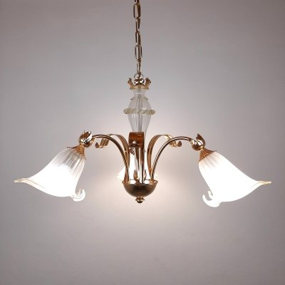 Vintage murano 'Lilies' chandelier, Italy 1980s
