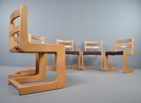 Set of 6 Casala cantilever dining chairs, 1970s
