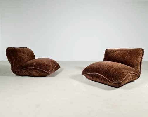 Set of 2 Gena chairs by Claudio Vagnoni for 1P Italy, 1960s