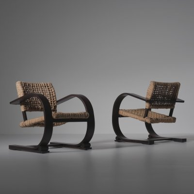 Audoux & Minet Rope chairs for Vibo Vesoul, France