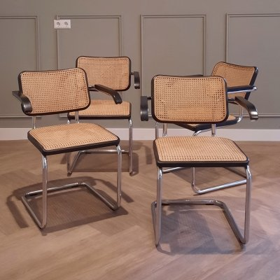 Set of 4 Thonet S64 chairs by Marcel Breuer for Thonet, 1990s