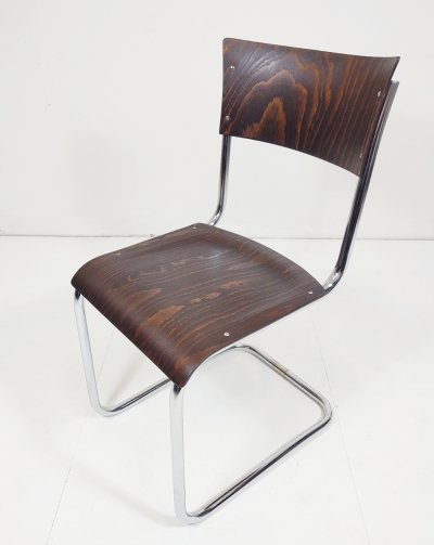 Tubular steel cantilever chair by Mart Stam, 1940s