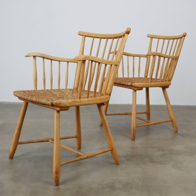 Pair of lounge chairs by Arno Lambrecht for WK, 1960s
