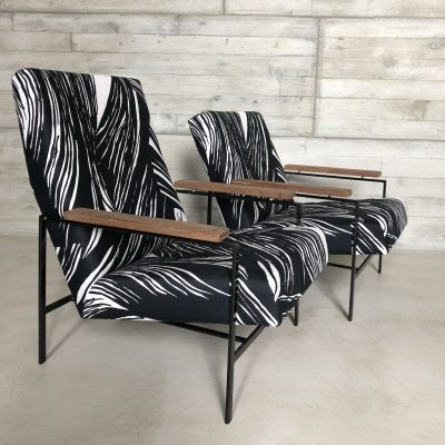 Set of 2 minimalistic lounge chairs by Rob Parry for Gelderland, 1960s