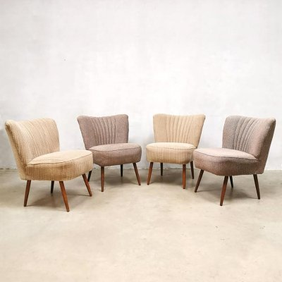 Vintage design club cocktail chairs, 1960s