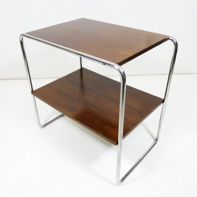Marcel Breuer Console table with steel frame, 1940s
