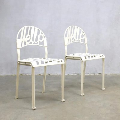 Vintage 'Hello There' Popart chairs by Jeremy Harvey for Artifort, 1970s