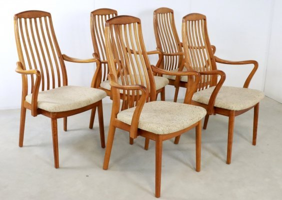 Set of 5 Danish dining chairs, 1960s