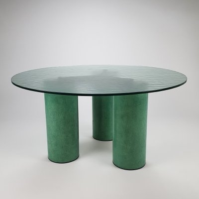 Postmodern Round Dining Table by Massimo Vignelli for Acerbis, 1980s