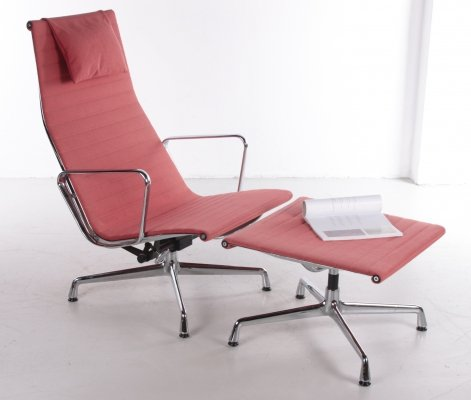 Charles & Ray Eames Chair with Ottoman, 1970s