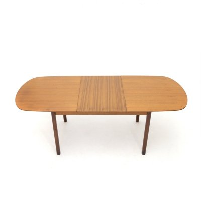 Teak table with extendable top, 1960s