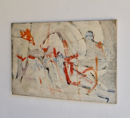 Abstract Oil On Canvas by Bernard Kay, 1953