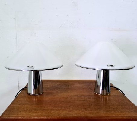 Set of two space age mushroom lamps by Guzzini, Italy 1970s