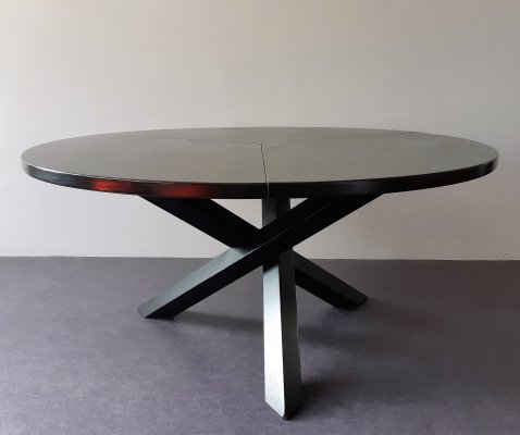 Tripod round dining table by Gerard Geytenbeek for AZS Meubelen, The Netherlands