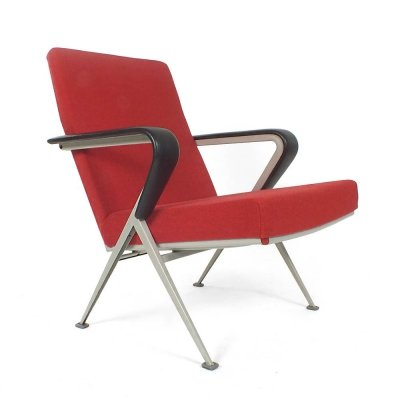 Red Repose chair by Friso Kramer for Ahrend de Cirkel, 1960s
