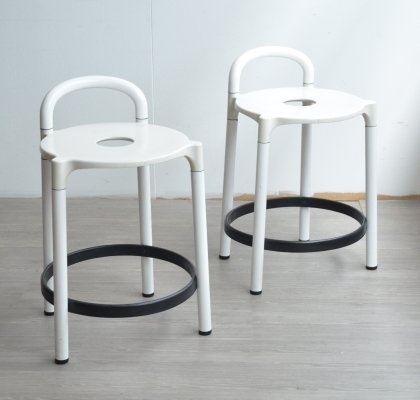 Pair of Polo Stools by Anna Castelli for Kartell, 1970s
