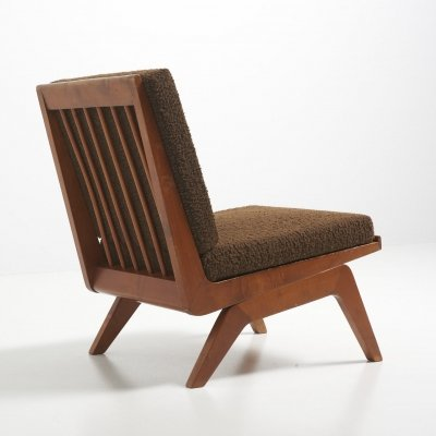 Rare Easy Chair in Ash by Bovenkamp, Netherlands 1950's