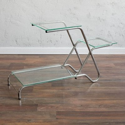 Functionalist chrome flower stand, 1930s