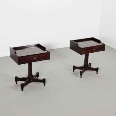 Rosewood Occasional Tables by Claudio Salocchi for Sormani, Italy 1960s