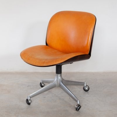 Mid Century Swivel Chair by Ico Parisi for MIM Italy, 1960s