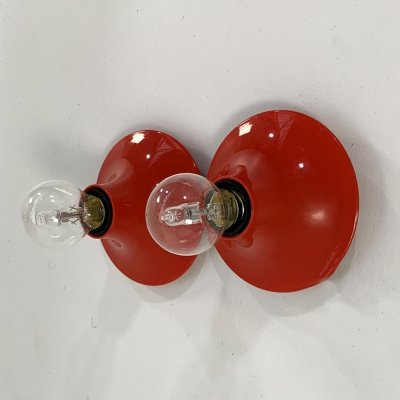 Red 'Teti' Wall Lamp by Vico Magistretti for Artemide, 1960s