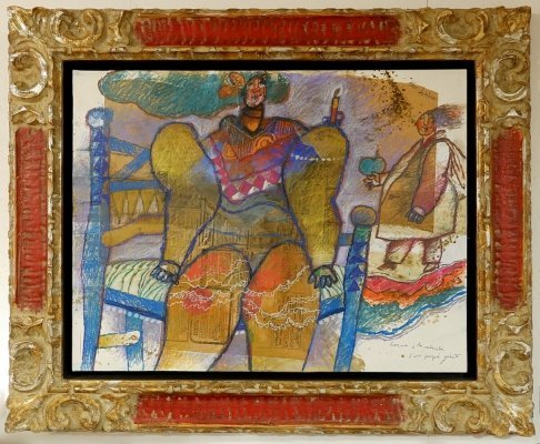 Mixed Media And Collage On Canvas by Théo Tobiasse, 1970s