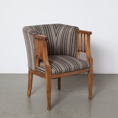 Upholstered Arts & Crafts Tub Armchair, 1920s