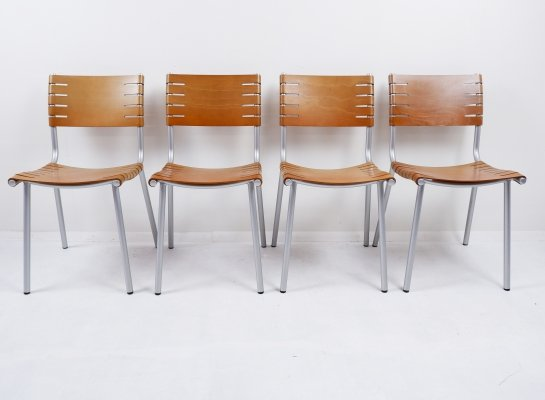 Set of 4 chairs by Ruud Jan Kokke for Harvink, 1970s